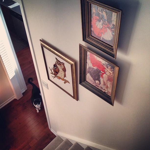 Stairwell Gallery in Progress