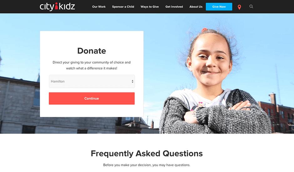 CityKidz Donate Page